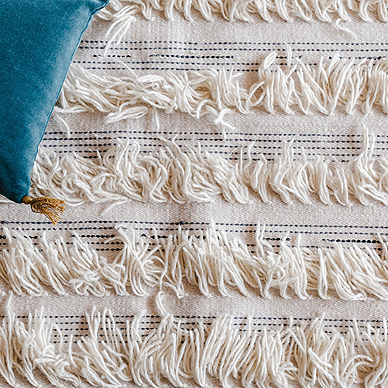 WHITE-FRINGE-RUG-WOOL-CONTEMPORARY-AFRICAN-DESIGN