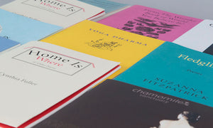 An assortment of various examples of poetry books printed by GlasgowPDC