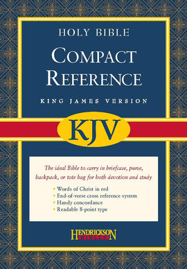 KJV Large Print Compact Reference Bible-Black Bonded Leather w/Magnetic Flap (Value Price)