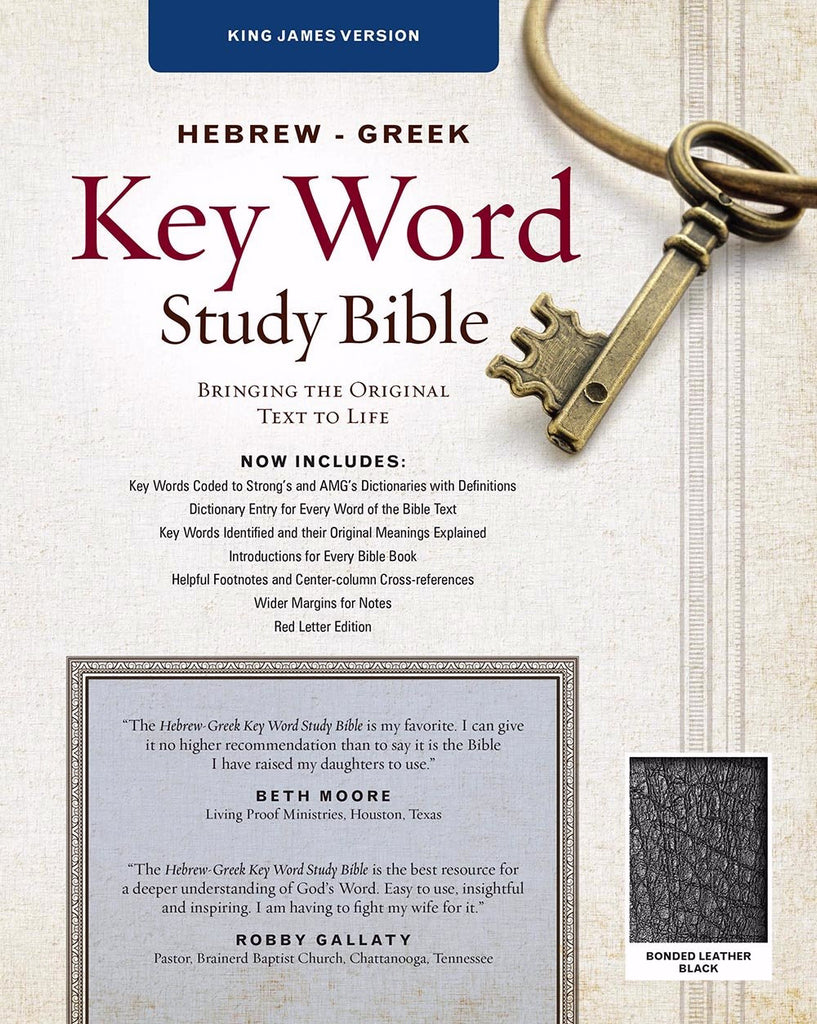 KJV Hebrew-Greek Key Word Study-Black Bonded Leather