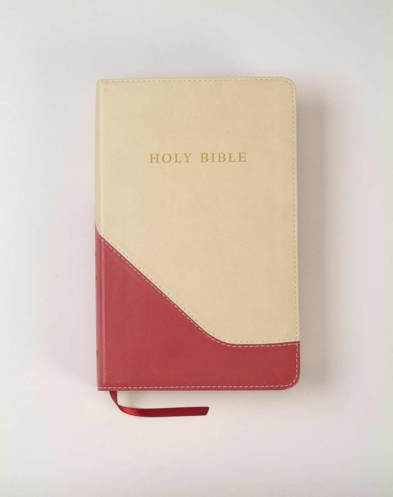KJV Personal Size Giant Print Reference Bible-Red/Sand Flexisoft (Value Price)
