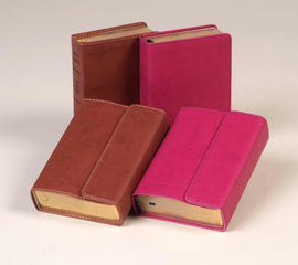 KJV Large Print Compact Reference Bible-Berry Flexisoft w/Magnetic Flap (Value Price)