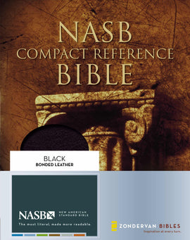 NASB Compact Reference Bible-Black Bonded Leather