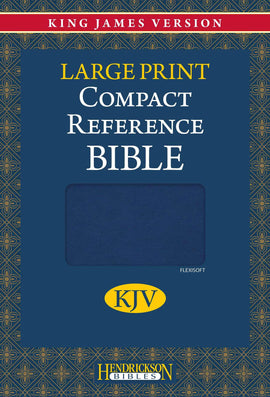 KJV Large Print Compact Reference Bible-Blue Flexisoft (Value Price)