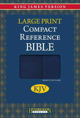 KJV Large Print Compact Reference Bible-Blue Flexisoft w/Magnetic Flap (Value Price)