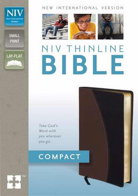 NIV Thinline Bible/Compact-Tan/Black Duo-Tone