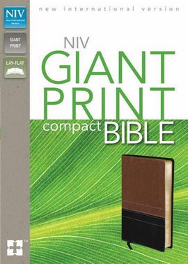 NIV Giant Print Compact Bible-Sierra/Black Duo-Tone