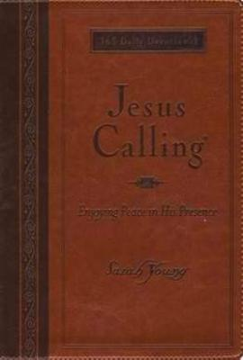 Jesus Calling (Deluxe Edition) Large Print-Tan LeatherSoft