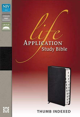 NIV Life Application Study Bible-Black Bonded Leather Indexed