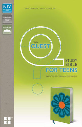 NIV Quest Study Bible For Teens-Kiwi/Caribbean Blue Duo-Tone