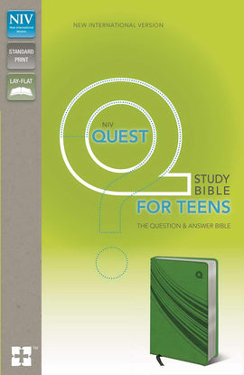 NIV Quest Study Bible For Teens-Green Duo-Tone
