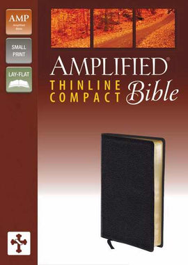 Amplified Thinline Bible/Compact-Black Bonded Leather