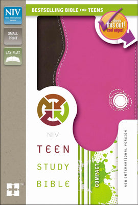 NIV Teen Study Bible/Compact-Chocolate/Raspberry Duo-Tone