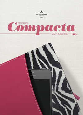 Span-RVR 1960 Compact Reference Edition-Pink/Zebra LeatherTouch w/Zipper