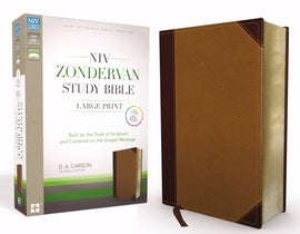 NIV Zondervan Study Bible/Large Print-Chocolate/Caramel Duo-Tone