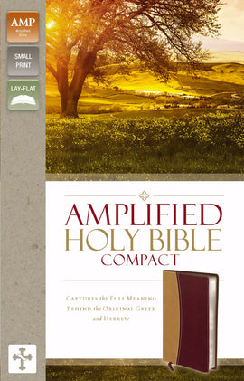Amplified Holy Bible/Compact (Revised)-Camel/Burgundy DuoTone