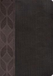 Span-RVR 1960 Compact Large Print Edition-Geometric/Gray LeatherTouch Indexed