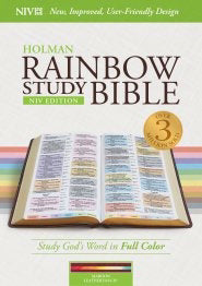 NIV Holman Rainbow Study Bible-Maroon Leathertouch Indexed