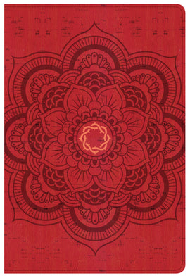 CSB Essential Teen Study Bible-Red Flower Cork LeatherTouch