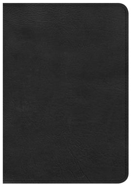 CSB Large Print Compact Reference Bible-Black LeatherTouch