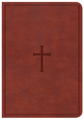CSB Large Print Compact Reference Bible-Brown LeatherTouch