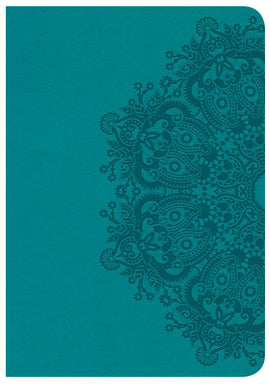 CSB Large Print Compact Reference Bible-Teal LeatherTouch