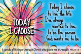 "Cards-Pass It On-Today I Choose (3""x2"") (Pack of 25)"