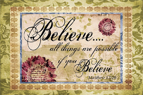 "Cards-Pass It On-Believe (3""x2"") (Pack of 25)"
