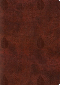 ESV Single Column Journaling Bible/Large Print-Chestnut Leaves Design TruTone