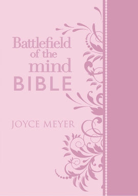 Amplified Battlefield Of The Mind Bible-Pink Euroluxe