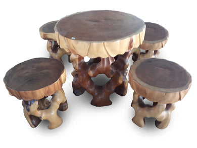 Wood table and stool home decor simple design - 50 cm