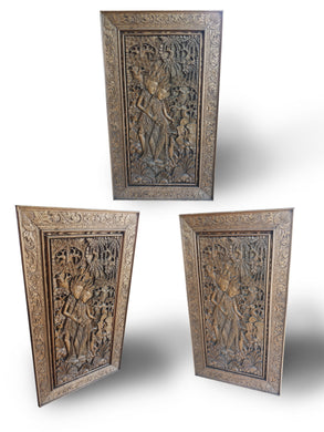 Wall decoration wood carving panel - 126 cm