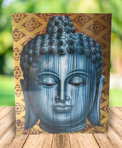 Buddha painting / original budha cute face  - 90 cm