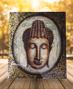 Buddha painting / Original face buddha wall decor - 120