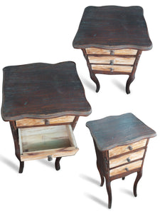 Wood table drawer funiture - 72 cm