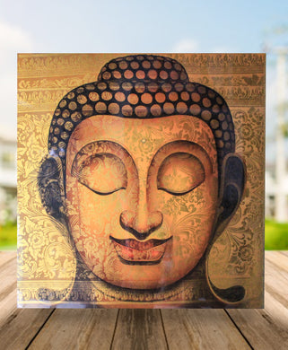 Buddha painting / original gold buddha wall decor - 100 cm