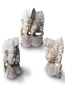 Wood statue home accesories wood carving / wedding souvenir-20 cm