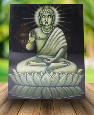 Buddha painting buddha blessing wall decor - 80 cm