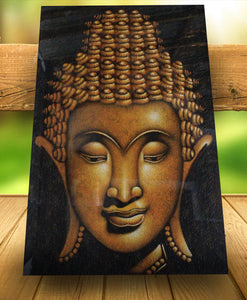 Buddha painting gold/ original buddha painting wall decor - 150 cm