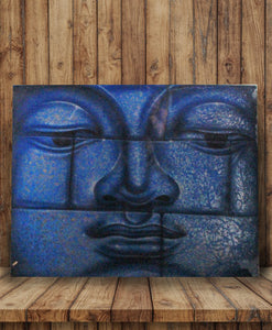 Buddha painting / Original buddha wall decor 50 cm.