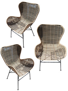 Rattan chair fits into home / cafe funiture __90 cm