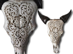 Cow skull carving 44cm