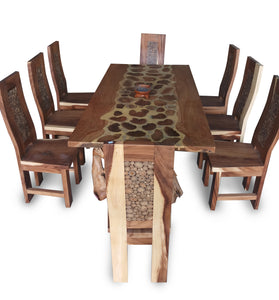 Dining table wood funiture 200 cm