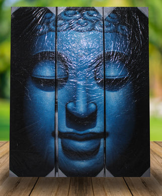 Budha painting 3 in 1 / original special painting wall decor - 120 cm