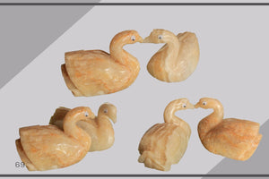 Small Swan Goose Statue- decor - accessories - gift - souvenir - Bird  8 x 4 cm