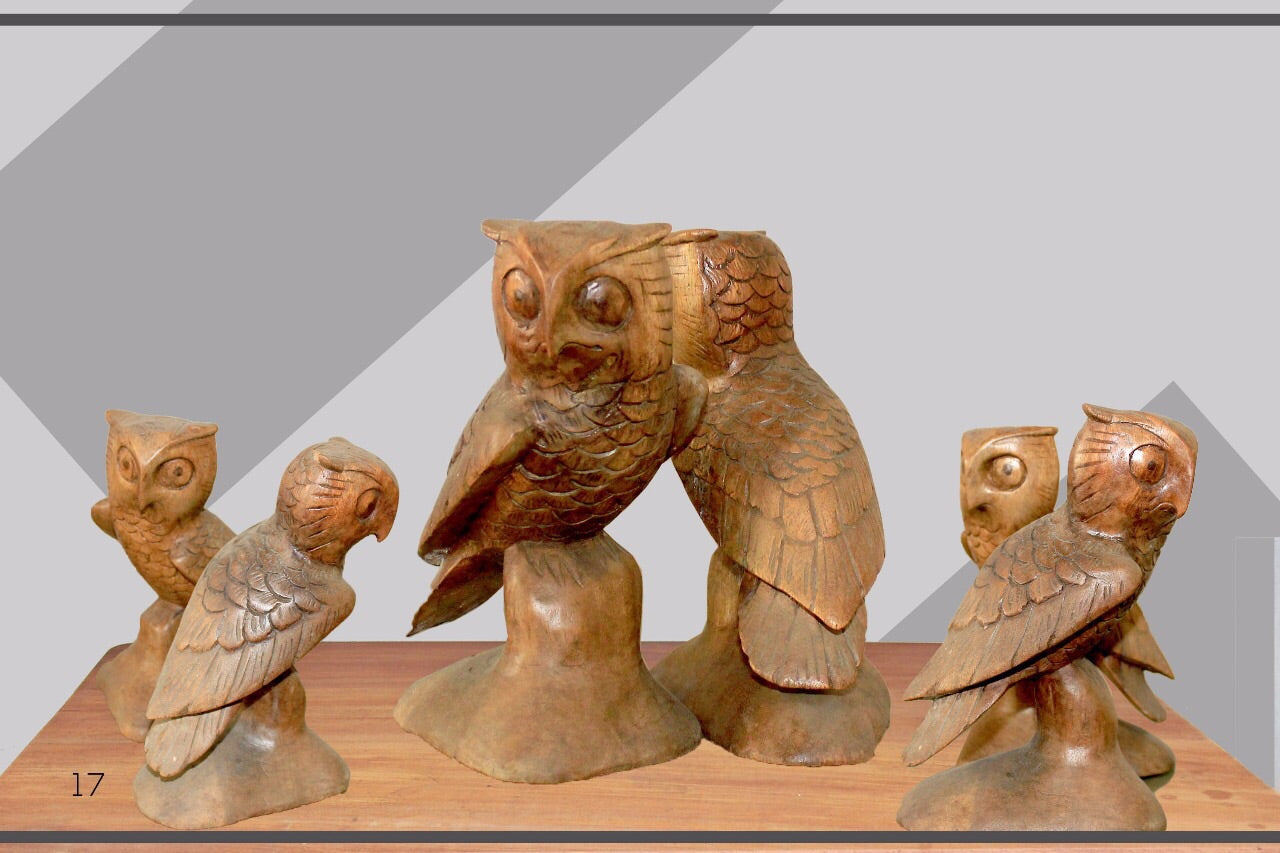 Owl statue 20cm – Direct Land - One stop shop for handmade ...