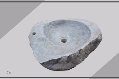 Bath Wash - Sink - Handmade of Solid Stone - High Class Design - Made in Indones