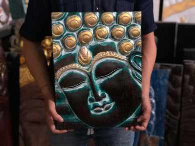 Small buddha face. Panel 13 size 40 cm
