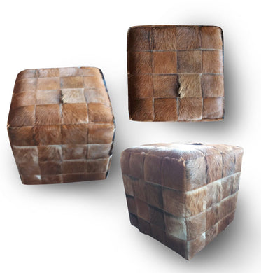 Box sit chair / Made of Cow skin / Cube design