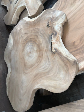Wooden abstract dining table